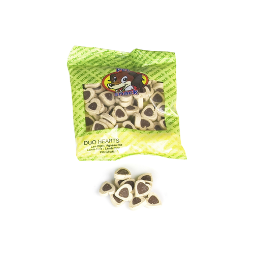 MINI DUO HARTS LAMB/RICE PET SNACK 200G