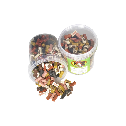 MIX BONES 500 G BUCKET PET SNACK