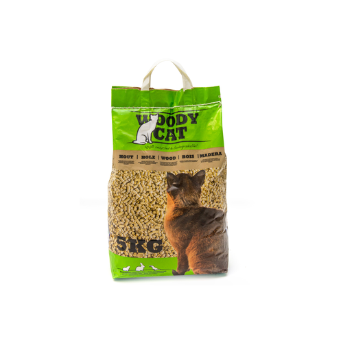 CAT LITTER GRANULES WOODY CAT  5 KG